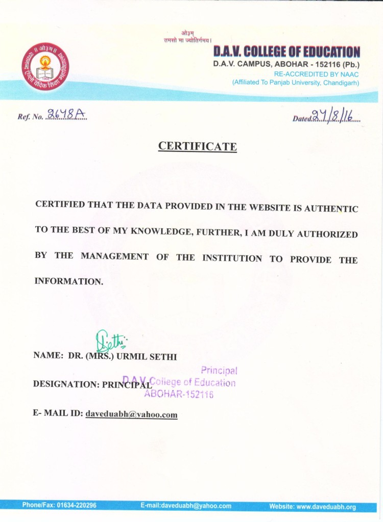 Website Authenticity Certificate 001